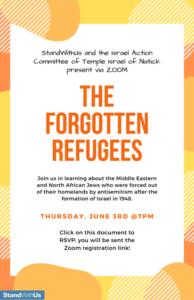 Flyer for forgotten refuge event